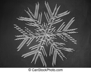 Snowflake on chalkboard - Illustration of hand drawn...