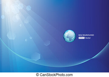 Abstract globe background Technology