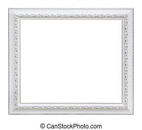 white Retro photo frame