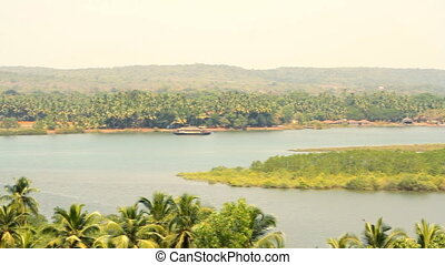 Panorama view of Goa nature in Indi