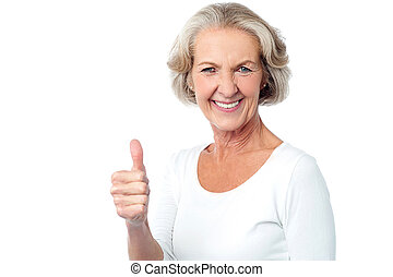 Wish you all the very best ahead ! - Image of a senior lady...