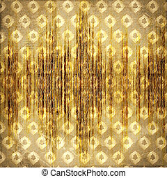 Grunge gold background with ancient abstract ornament