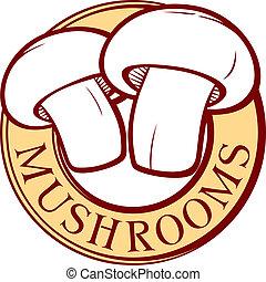 mushroom label design