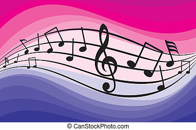 Music theme Music notes