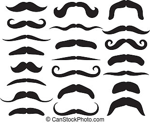 Set of mustache mustache collection