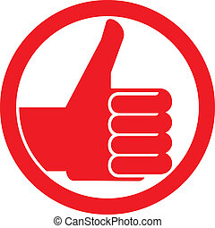 thumbs up symbol vector hand showing thumbs up, human hand...