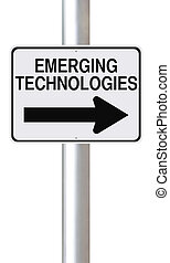 Emerging Technologies - A modified one way street sign on...