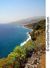 beautiful coast of La Palma (Canary Islands) Santa Cruz
