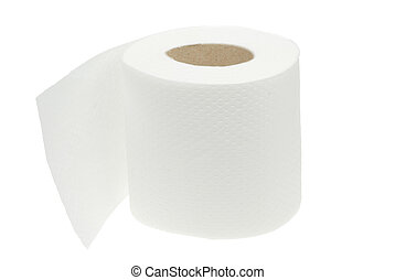 toilet paper isolated on a white background