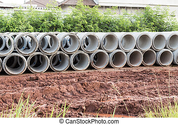 Concrete drainage pipe - Concrete drainage tube on...