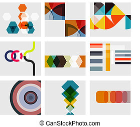 Modern abstract geometrical background templates