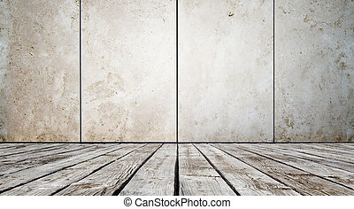 floor and concrete wall