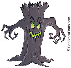 Spooky tree theme image 1 - eps10 vector illustration.