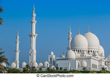 Sheikh Zayed Grand Mosque in Abu Dhabi, the capital city of...