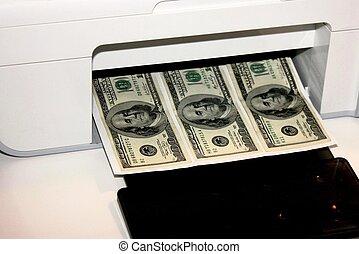 Copier printing cash