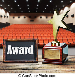 Star award for service to the background of the auditorium...