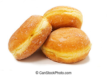 delicious donuts on teh white background