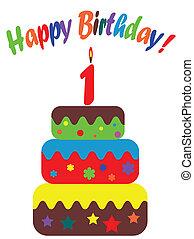 Birthday card , for one year - Birthday card