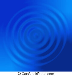 abstract blue concentric circles like water spiral