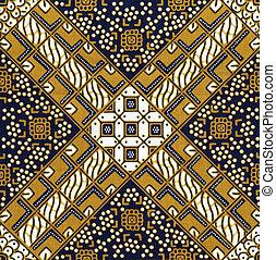 Batik background - Detail of a batik design from Indonesia