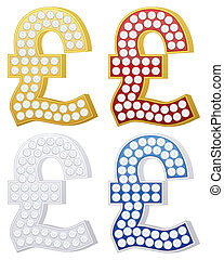 jewelry pound symbol set on a white background. Vector...