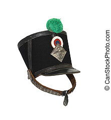 Old French Shako - Ancient French military shako with...