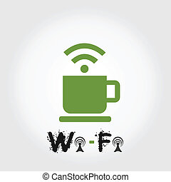 Wi Fi - Bonded area wi fi A vector illustration