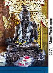 Hermit statue in Wat Ban Den , Chiangmai Thailand