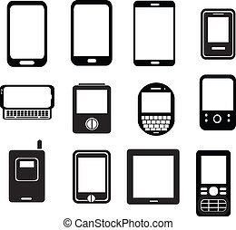 mobile phone - set of mobile phone icons
