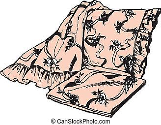 Deken illustraties en clipart zoek onder deken beschikbare royalty vrije illustraties en - Cabine slaapkamer meisje ...