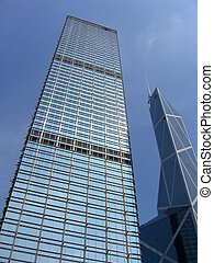 Business buildings - Cheung Kong Centre & Bank of China...
