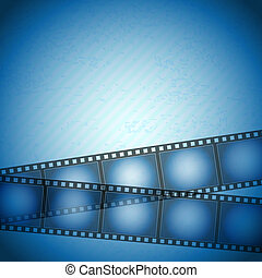 filmstrip blue background