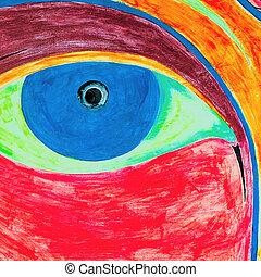 rasta-color - rasta color eye backround