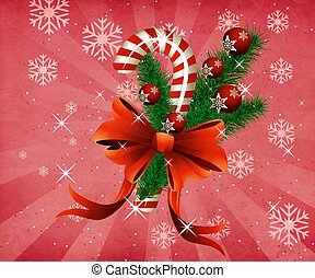 Grunge christmas candy cane pink background - Grunge...