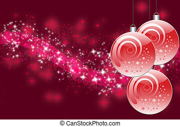 Pink Christmas balls - Three pink Christmas balls with...