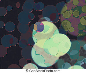 Circlespink, blue, - View of a lot of colorful circles