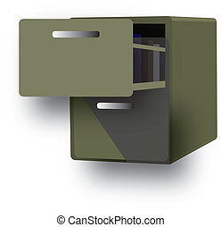 cabinet for archive papers and information