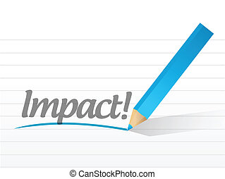 impact written on a white paper illustration design notepad...