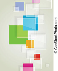 Abstract background with transparent squares