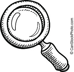 Magnifier - Hand-drawn sketch of a Magnifying Glass