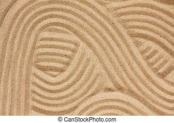 Abstraction on the sand, can be used as background