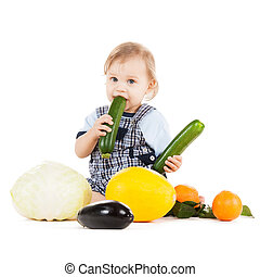 toddler eating squash