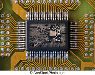 Integrated microcircuit - Microphoto of an integrated...
