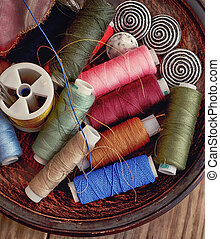 spools of thread - set of the spools of thread