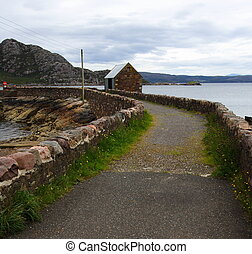 Foot-road in the highlands - Foot-road in the western...