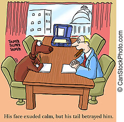 Negotiation - His face exuded calm, but his tail betrayed...