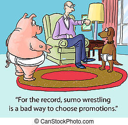 """Selecting Which Person to Promote - """"For the record, Sumo..."""