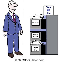 Human Resources File - Your HR File: Warnings, Crazy Stunts,...