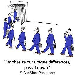 """Lack of Change - """"Emphasize our unique differences, pass it..."""