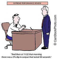 "Extreme performance review - ""And then at 11:32 that morning..."